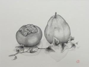 persimmon & pear