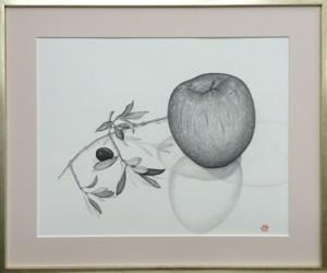 framed apple and olive